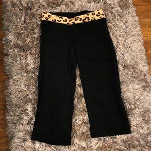 VS Pink Cropped Yoga Pants